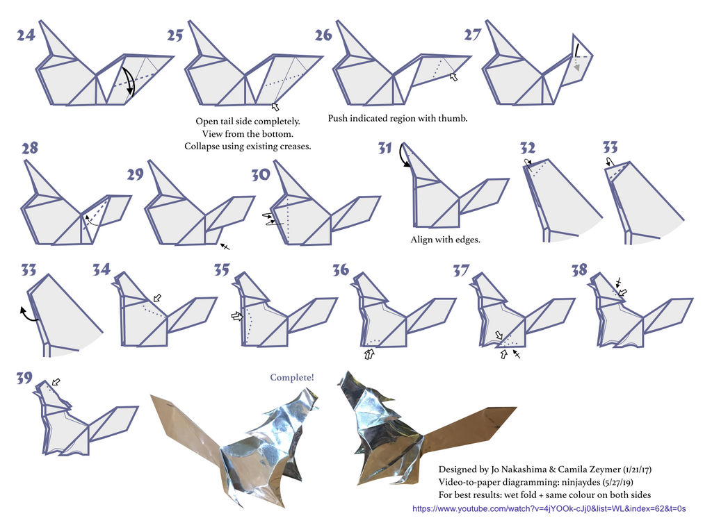 Fold an Origami Wolf Head   Origami, Origami for beginners ...   766x1024