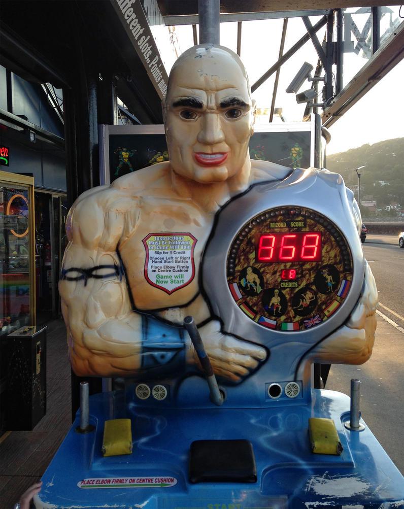 Arcade Muscle Man - Free Stock by jeffkingston