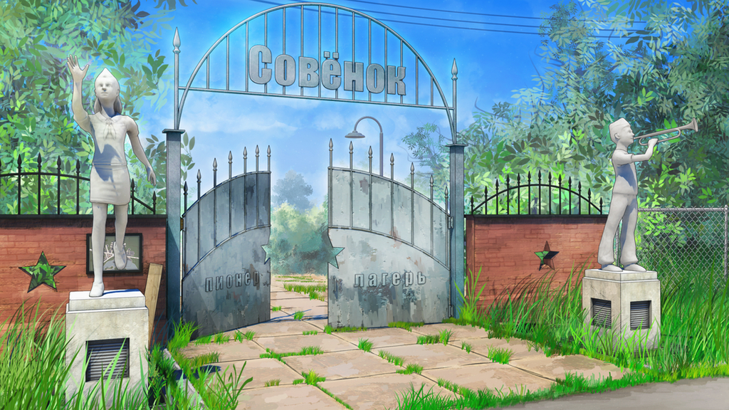 Everlasting Summer Background Gate Camp By AnBro 95