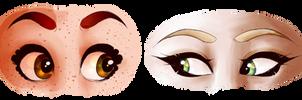 i like drawing eyes hhhhh by kittyskeletal