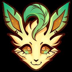 Leafeon [SPEEDPAINT + MERCH] by kittyskeletal