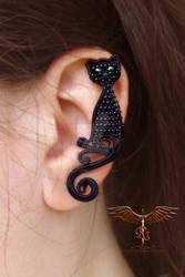 Black cat ear cuff