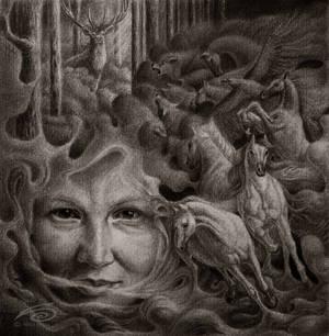 The Hunt (self-portrait)
