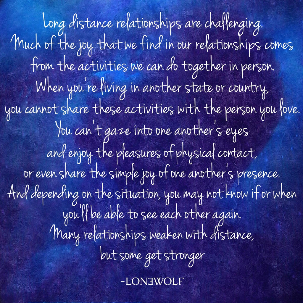 lon3wolf, Long Distance Relationship Quote, Love Q by