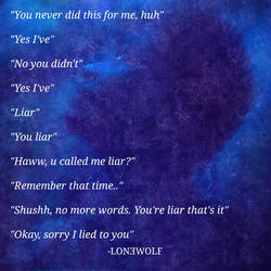 Lon3wolf, Conversation Quote, Love Quote, Sweet by lon3wolfofficial