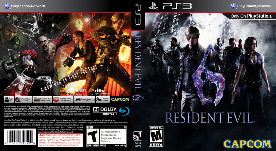Resident Evil 6 Caratula Ps3 By Adaalberto On Deviantart