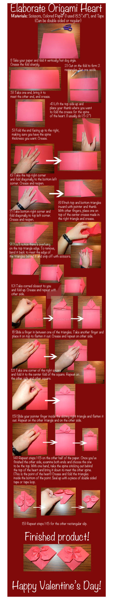 Elaborate Origami Heart Tutorial by mewpearl