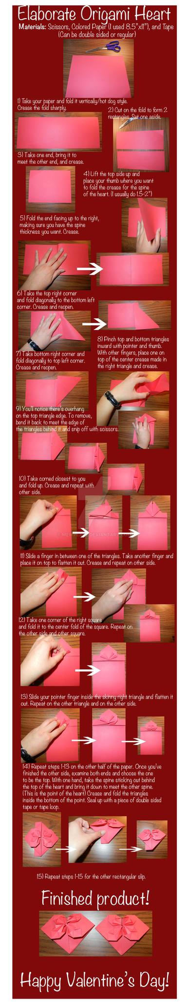 Elaborate Origami Heart Tutorial by mewpearl