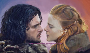 Game of Thones Jon Snow and Ygritt