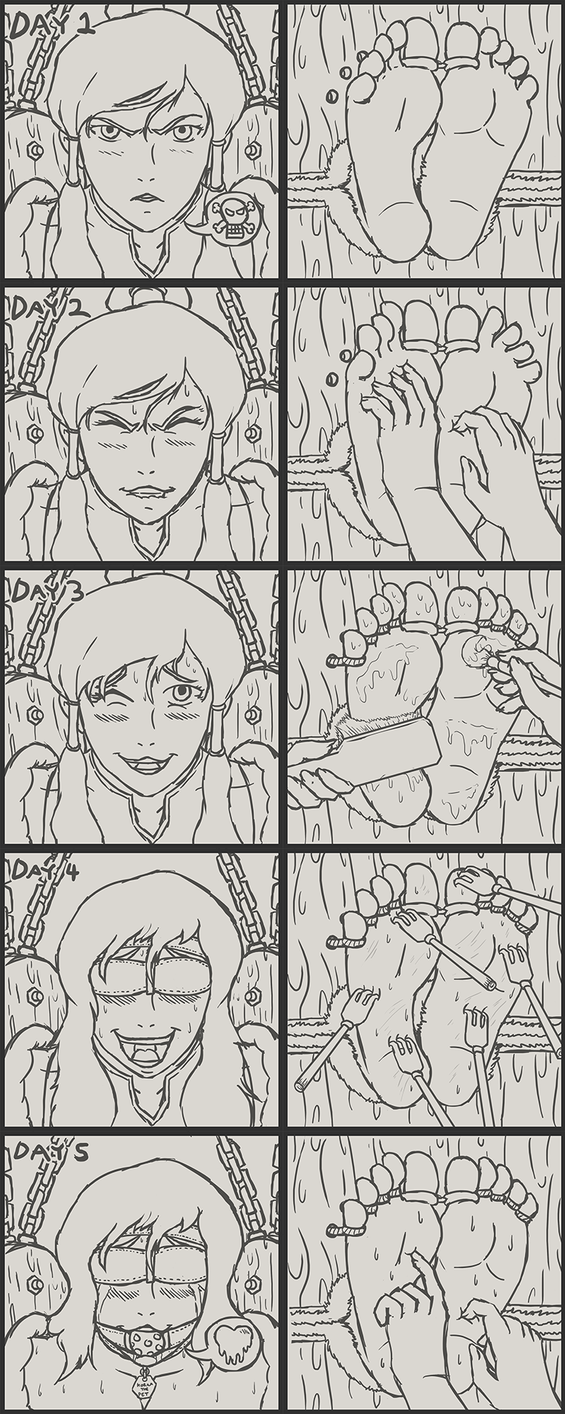 Korra's Slow, Methodical Tickle Torture Captivity by Caroos-Dungeon