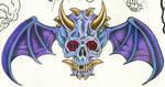 winged demon skull