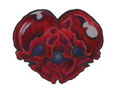 skull heart tattoo flash by scottkaiser
