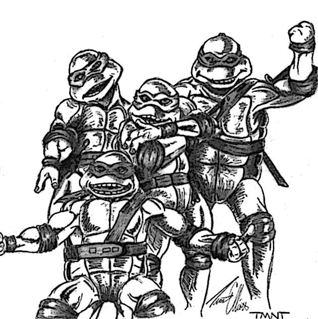 Line Art Ninja Turtles : Teenage mutant ninja turtles by ubob on deviantart