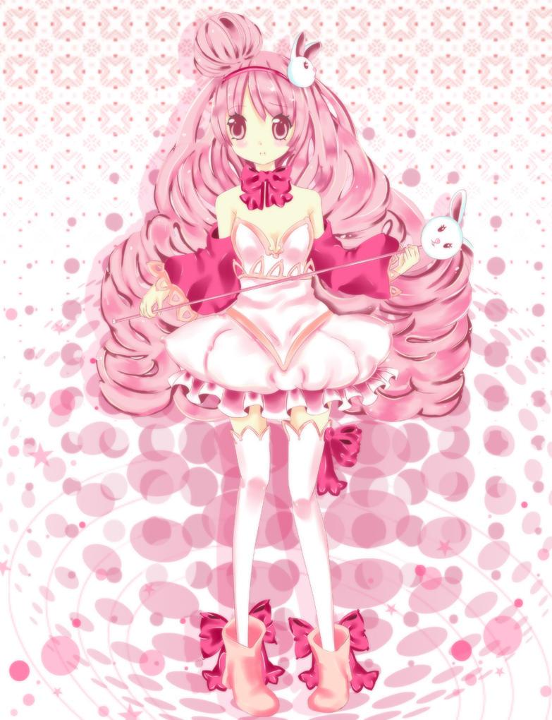 Pinku Bunniee by BunnyBunHime