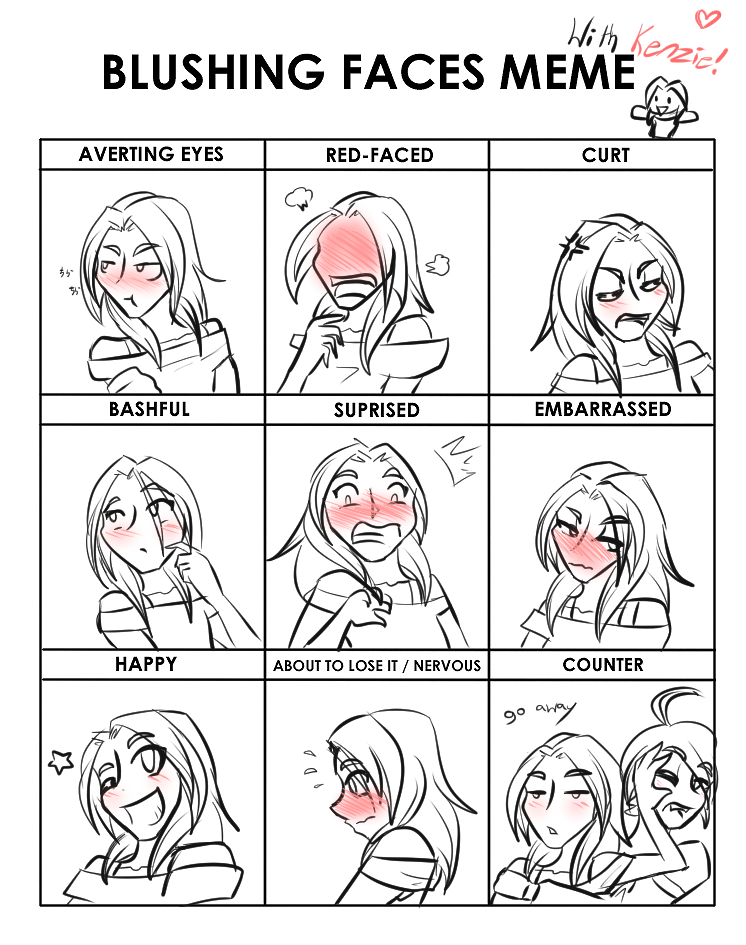 Blushing Face Meme