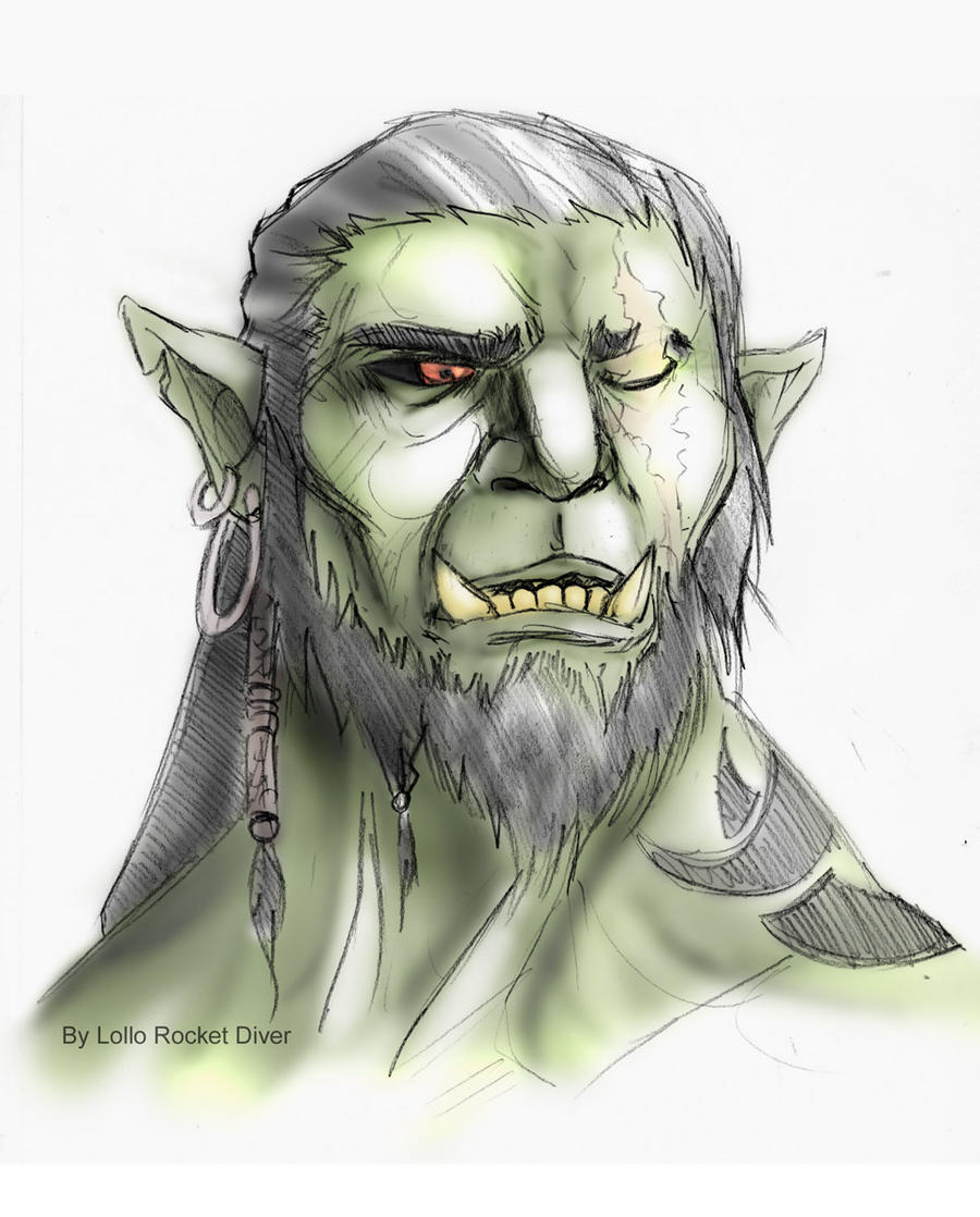 Half Orc Portrait Feral: The Stor...