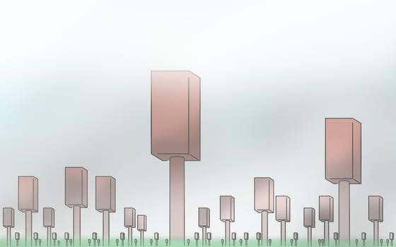 Bricks on sticks