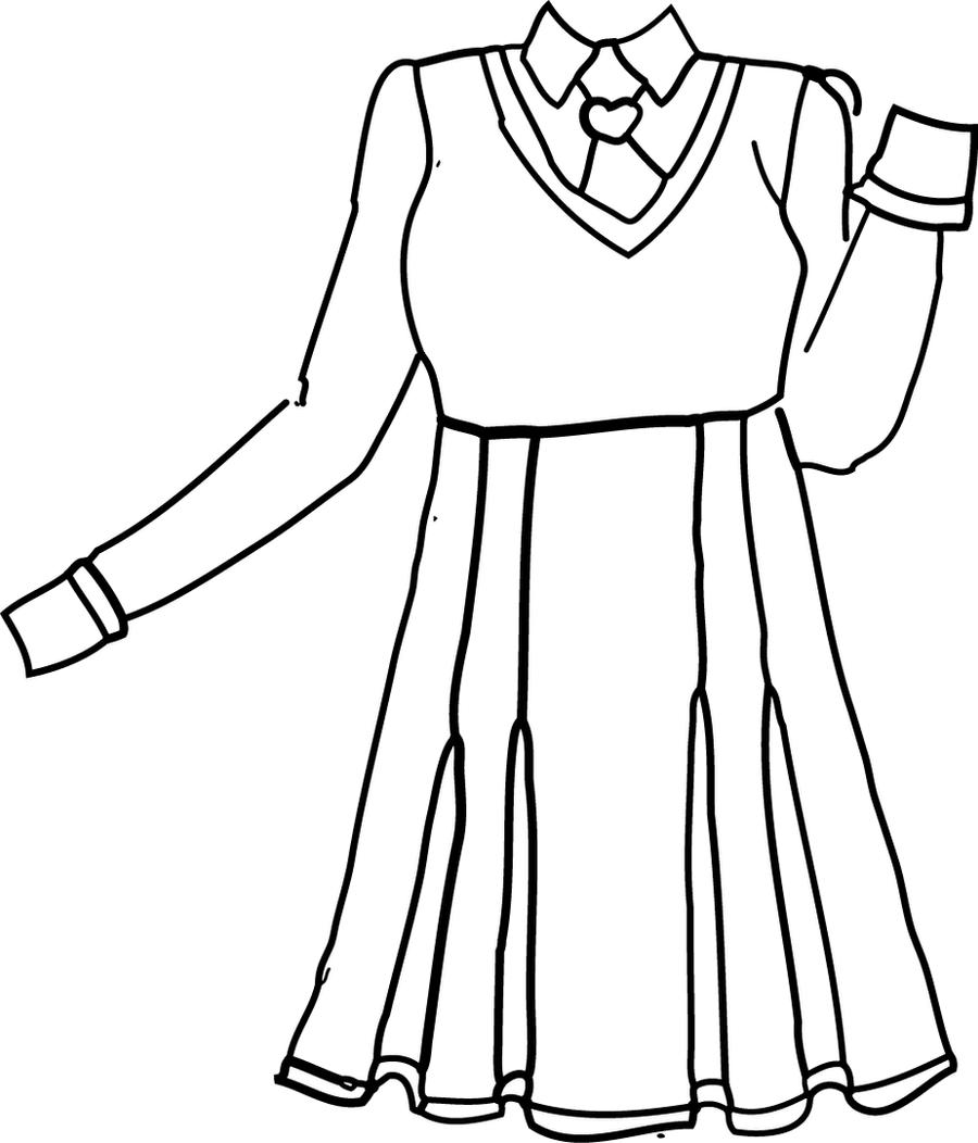 school uniforms coloring pages   FloraAngels School Uniform Lineart by PriMagnus2008 on ...