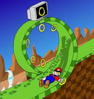 3K rq- Mario in Emerald Hill by CaptainInvincible