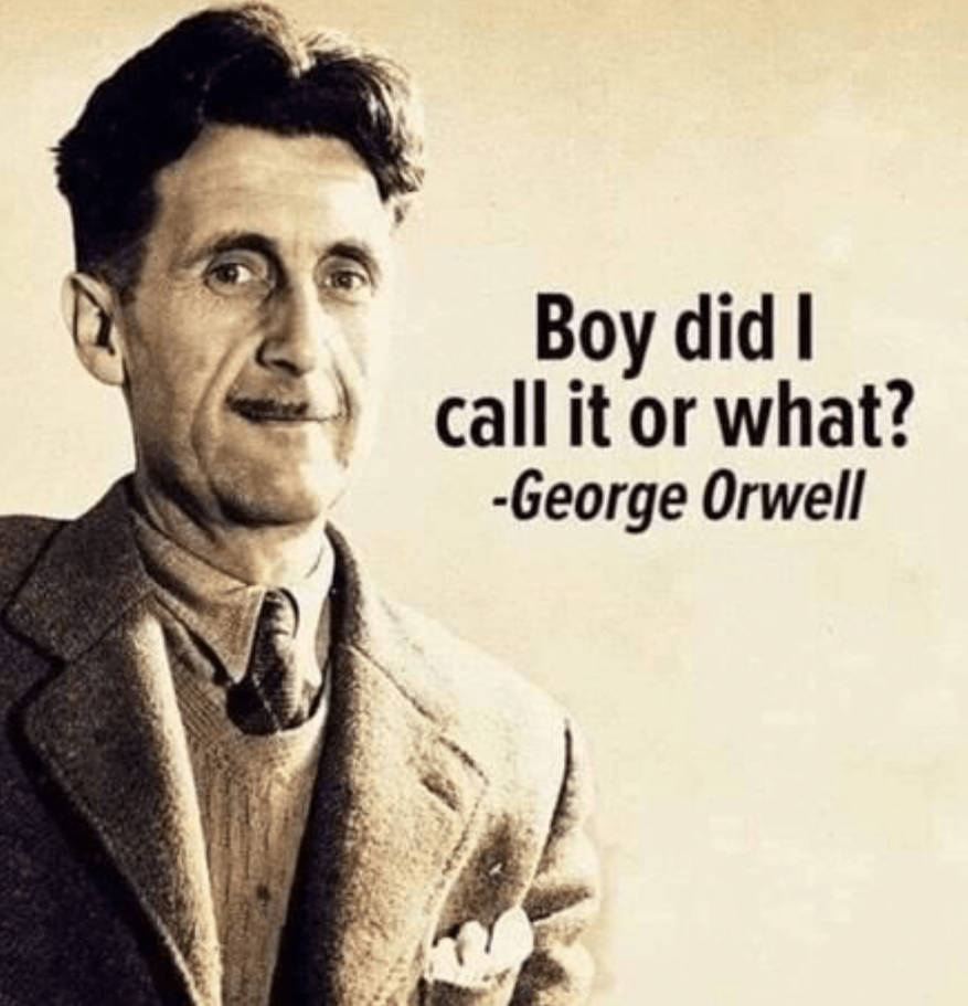 Boy Did I Call It Or What - Orwell by SpecialGuestStar on DeviantArt