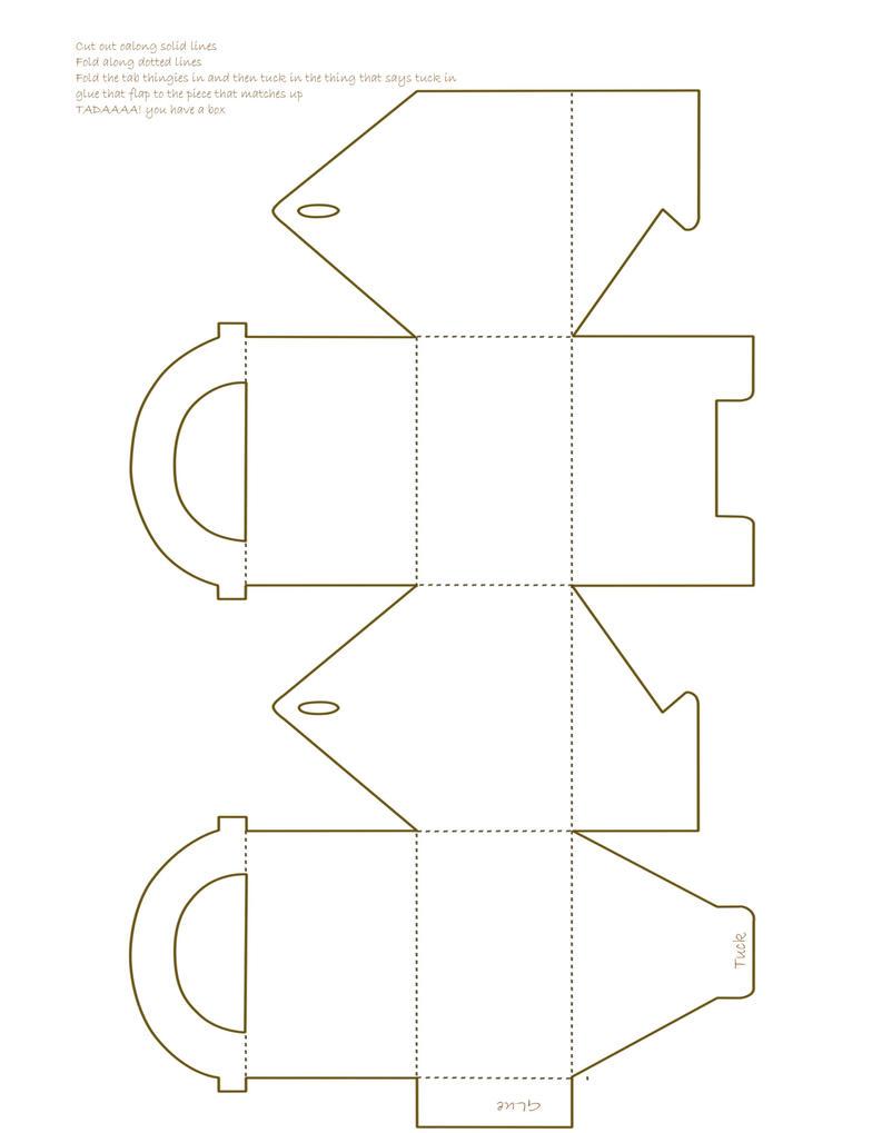 Box template by ~Candied-Turnips on devi... : 紙で作る箱(ペーパー ...