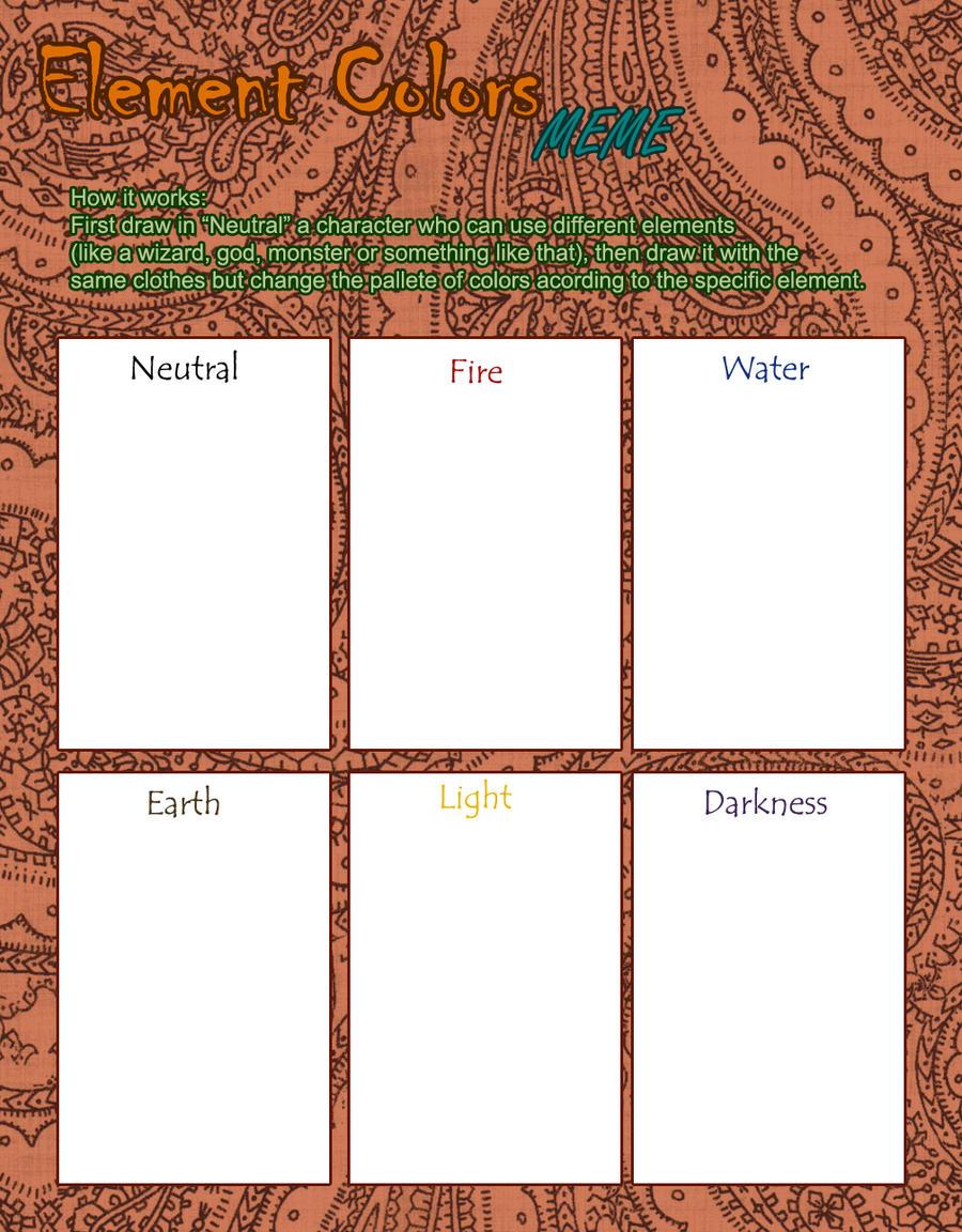 Element Colors meme by isasofus
