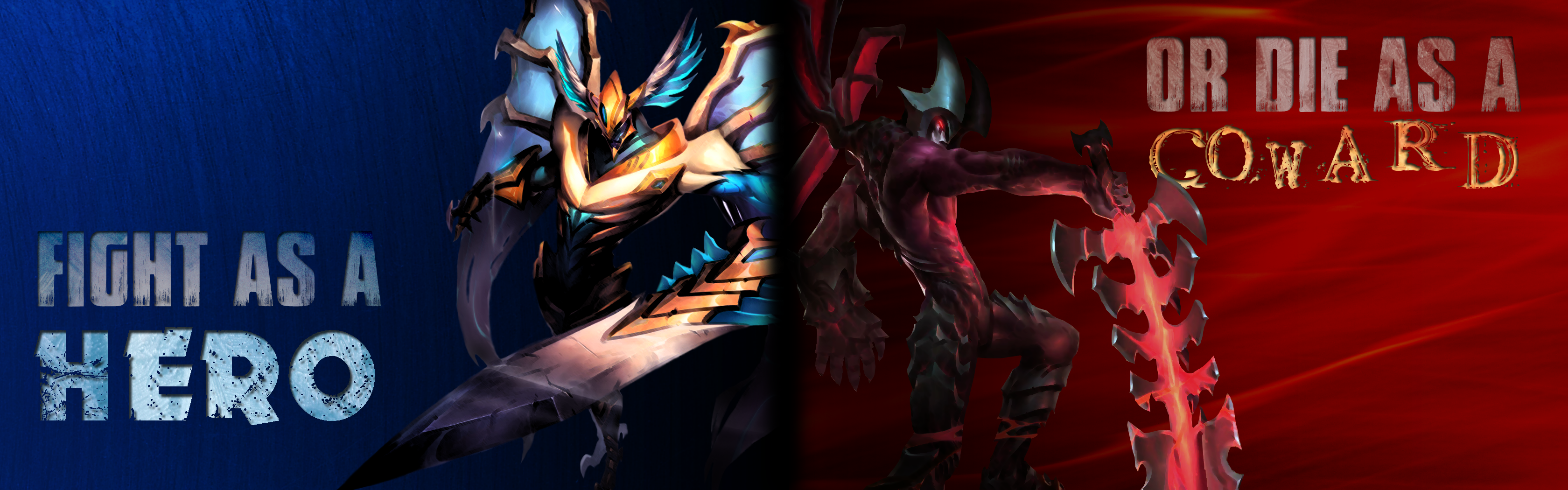 Aatrox Dual Screen Wallpaper By Doidero On Deviantart
