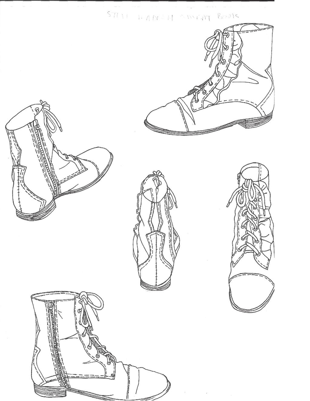 Uncategorized Draw Boots combat boot sketches by louie xv on deviantart xv