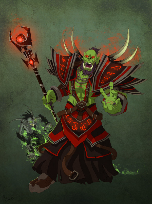 Orc Warlock by pokketmowse