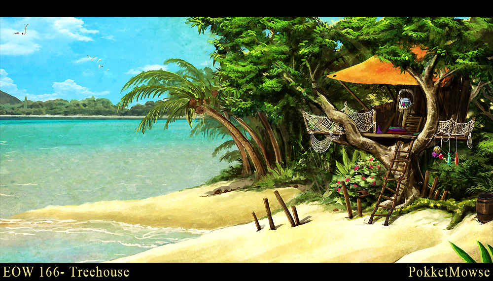 Tropical TreeHouse by pokketmowse