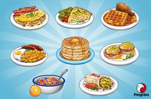 Breakfast Food Items by pokketmowse
