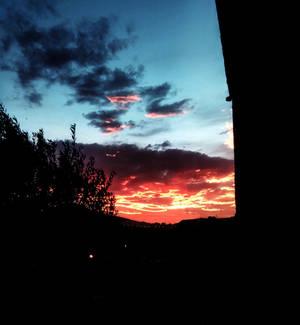 red sky.... jijel