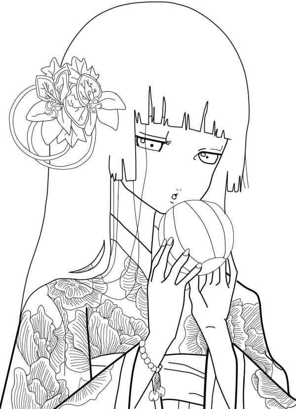 Q Line Art : Enma ai line art by missmustache on deviantart