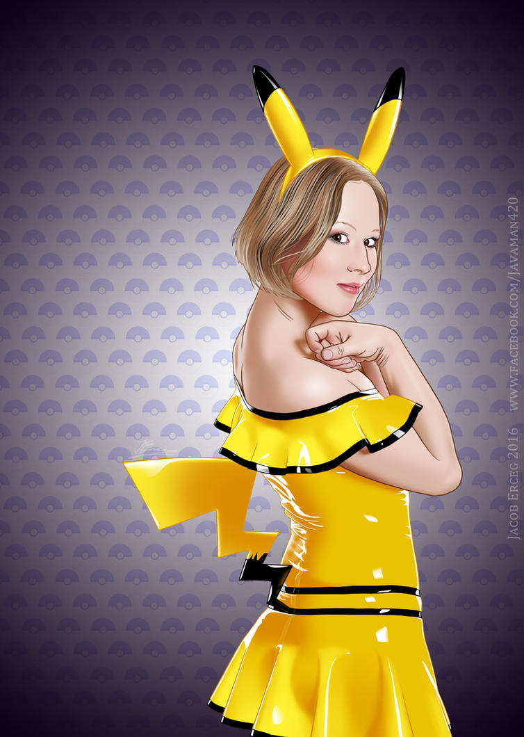 Pikachu - Purple by Jacob-Digital-Art