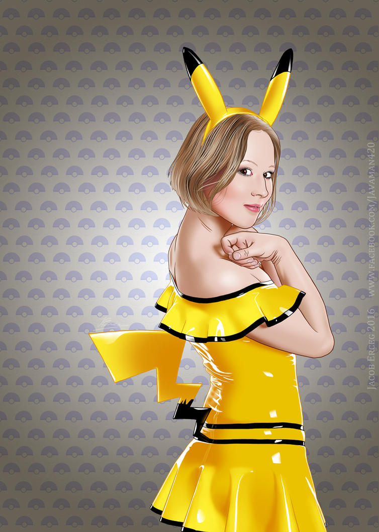 Pikachu - Yellow by Jacob-Digital-Art