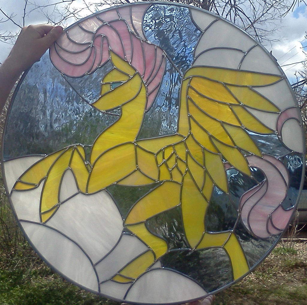 FlutterShy Stained Glass Window by Miss-Vicki-Vicki