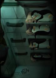 Sleepy Penguins by B0XFISH