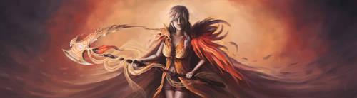 FFXIII - Lightning Phoenix Design by queenofeagles