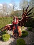 WIP phoenix lady costume - part 2
