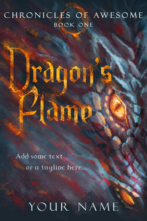 For sale - Dragon's Flame premade book cover by queenofeagles