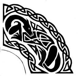 Dragon design 1/4 shield