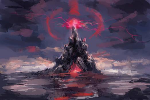 Speedpaint - Red Mountain