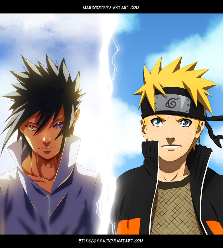 Naruto 693 - Sasuke vs Naruto - Collab by MarxeDP