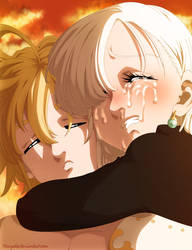 Please, open your eyes... Meliodas and Elizabeth by MarxeDP