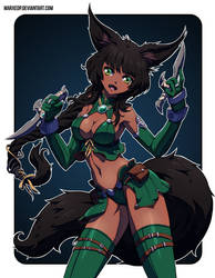 Fox Girl by MarxeDP