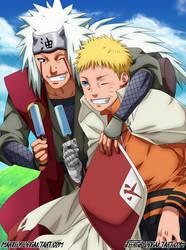 Jiraiya and Naruto by MarxeDP