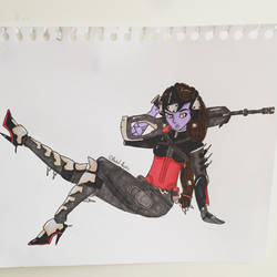 Widowmaker noire (commission) by Pastilli3