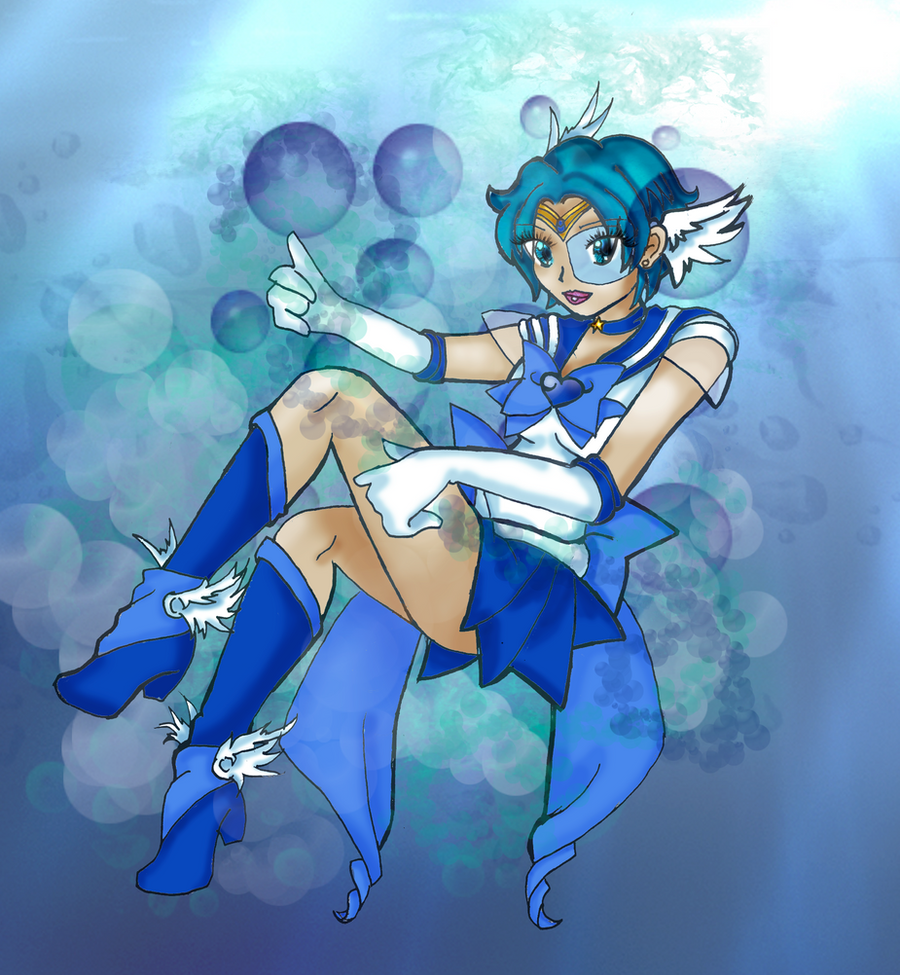 Sailor Mercury - Aqua Harp by JettKillsZombies