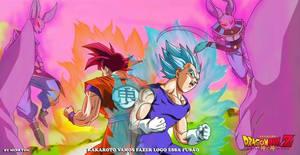 Goku ssjG01 e Vegeta ssjBlue Filme(Commission)