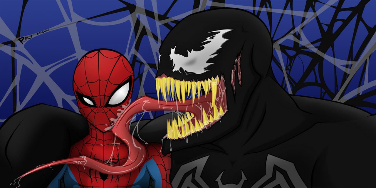 Spider-man VS Venom by RKCrystalSoul